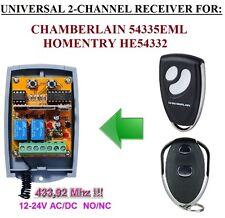 Chamberlain 54335EML / Homentry HE54332 Compatibile ricevitore, 12-24 VAC/VDC