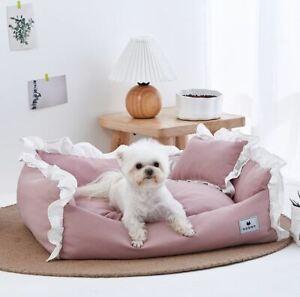 Cotton Princess Pet Dog Cat Bed House Sofa Mat Cushion Indoor Handmade Pillow