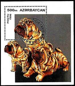 AZERBAIJAN 1996 DOGS  S/S DOMESTIC ANIMALS