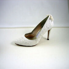 Peep Toes Leather Upper Bridal Shoes