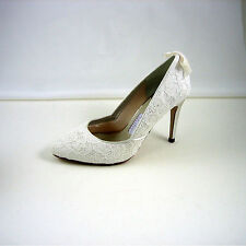 High Heel (3-4.5 in.) Court Leather Upper Bridal Shoes