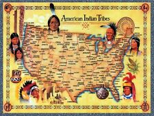 American Indian Tribes: United States Map :  Art Print