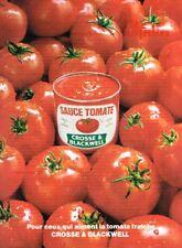 C- Publicité Advertising 1967 La sauce Tomate Crosse & Blackwell