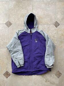 VTG Reebok Sacramento Kings NBA Full Zip Parka Jacket Purple Gray Size XXL