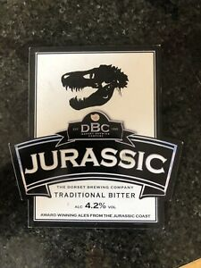 "Dorset Brewing Company ""Jurassic"" 4.2% Vol Ale Badge"