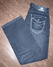 Old Skool Size 38x33 Mens Relaxed Fit Black Jeans 100% Cotton