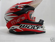 WULFSPORT Casco Bambini Moto Cross Quad Off Road Scooter ATV Corsa, Red occhiali
