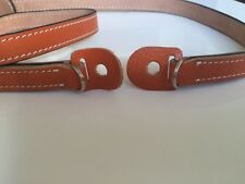 Genuine Leather Camera Neck Strap (Orange)