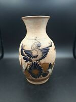 Vintage Mexican Folk Art Pottery Hand Painted Vase