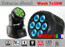 TESTA MOBILE Rotante PAR LED RGBW 7 x 10 WATT! WASH PROGRAMMABILE EXTREME SOUND