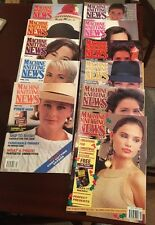 Vintage Machine Knitting News, 11 Magazines From 1992