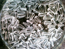Vtg 300 CLEAR BIG OLD CZECH GLASS DROP BEADS 10MM HOT! #071410w