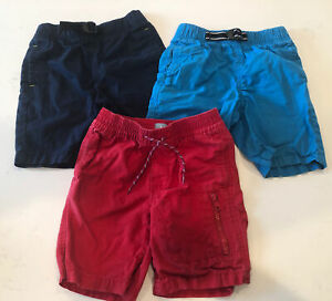3 Pairs Baby Gap Boys Shorts Navy Blue Red Pull On Woven 5 5T