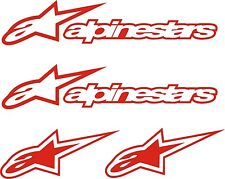 4 PEGATINAS VINILO - Alpinestars - Vinyl - AufKleber - Sticker - Alpine Star