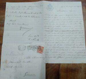 1901 33) LETTERA DEL SENATORE PIETRO NOCITO DA CALATAFIMI SU CARLO DE VINCENTIIS