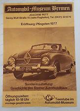 Original-Plakat-Automobil-Museum-Bremen-Borgward-Signiert-1977-