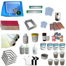 4 Colors Screen Printing Materials Kit Silk Screen Press Tool Accessories New US