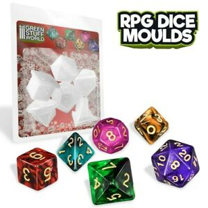 RPG Dice Moulds - aos miniatures bases mold polyhedral warhammer 40K