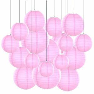 Colored Paper Lanterns Paper Lantern Purple Ball Lampion For Party Decoration