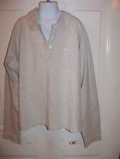 Abercrombie & Fitch Long Sleeve Gray Button Down Polo Size XL Girl's EUC