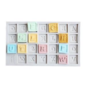 Silicone Alphabet Letters Fondant Sugarcraft Mould Cake Topper Decor Icing Mold