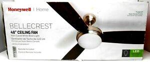 "Honeywell Home Rio Rio 48"" 3 Blade Indoor Ceiling Fan - Satin Nickel & Wood"