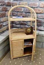 Brand New Natural Wicker Standing Shelf & Drawer