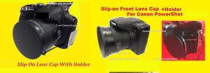 KAISER SLIP-ON LENS CAP to CAMERA CANON POWERSHOT SX500 IS SX510 HS +HOLDER