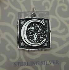 Sterling Silver 21x20mm Heavy Alphabet Letter Initial C Charm