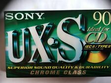 SONY UX-S 90 FACTORY SEALED AUDIO CASSETTE EUROPE