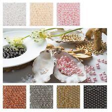 Dekoperlen Wachsperlen Ø10 mm Farbwahl Perlen Tischdeko rund OHNE Loch Streudeko