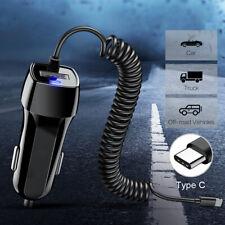Coche USB Cargador De Teléfono Cable Adaptador de carga rápida de tipo C para Samsung S10 S9 Plus