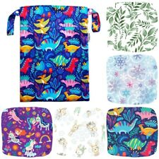 Large Wet Bag 30x40cm Swimming Cloth Nappy Baby Clothes Wetbag Kids Double zip