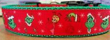 The Grinch Christmas Dog Collar 2 designs