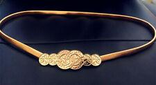 Hot Vintage Waistband Metal Waist Chain Vogue Belt Gold Coins Women's Thin Band