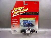 NIB JOHNNY LIGHTNING 1992 CHEVY CAMARO RS POLICE CAR 1/64 DIE CAST BOX W/WEAR