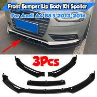 Front Ansatz Spoiler Schwert Diffusor Lippe Tuning für Audi A4 B8 FA159
