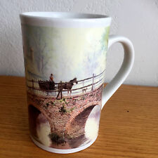 """Thomas Kinkade Co. Coffee Mug Horse & Buggy on Bridge 2004 4 7/8"""""""