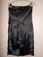 Calvin Klein Womens Strapless Layered Black Dress Soft Cup Shelf Bra