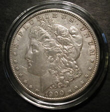 1900 Silver Morgan Dollar - U.S. Coin - Philadelphia Mint - in plastic capsule
