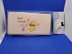 DISNEY Pink Baby Wipes Travel Case Winnie the Pooh & Piglet BEST FRIENDS