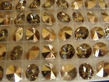 Swarovski Crystals - Lot of 72 Comet OR 24k gold coated 10mm - Austrian w/hole