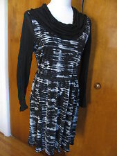 Kensie women's heather grey combo lined dress size Medium NWT