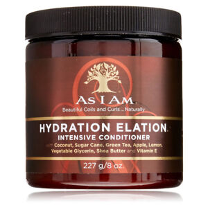 [AS I AM] HYDRATION ELATION INTENSIVE CONDITIONER 8OZ