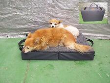 Fold Up Orthopedic Travel Dog Bed - Small 4 Seasons Portable Pet Bed