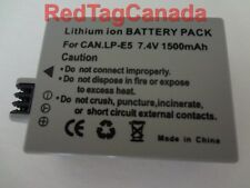 Battery for Canon LP-E5 LPE5 EOS Digital Rebel Xsi T1i XS EOS 450D 500D 1000D