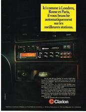 PUBLICITE ADVERTISING   1987   CLARION  auto radio