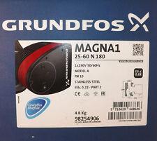 GRUNDFOS MAGNA1 25-60 N 180 PN 10 SINGLE HEAD PUMP 98254906 STAINLESS STEEL