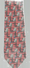 Robert Talbott Necktie Geometric Design Multicolored Hand Sewn Silk Men's