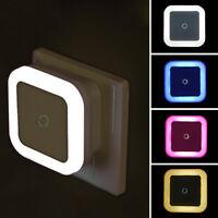 LED Night Light Mini Light Sensor Control 110V 220V EU US Plug Nightlight Lamp